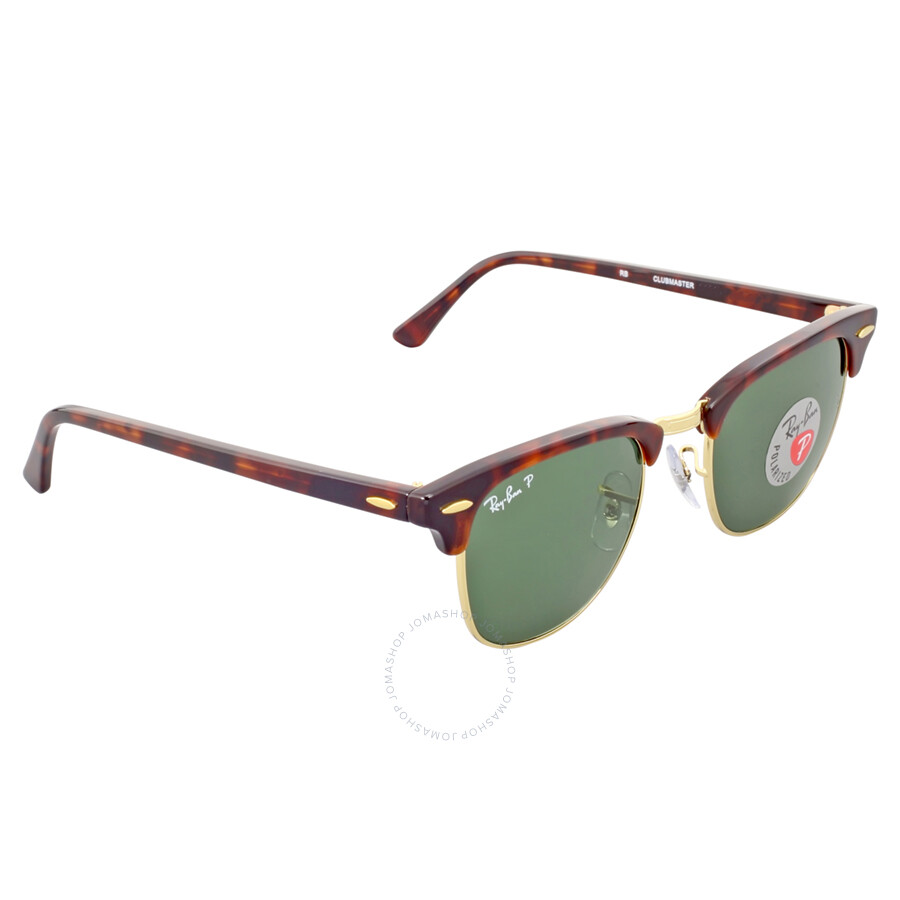b7e538a93b8 ... Open Box - Ray Ban Clubmaster Polarized Green Classic G-15 Sunglasses  RB3016 990  ...