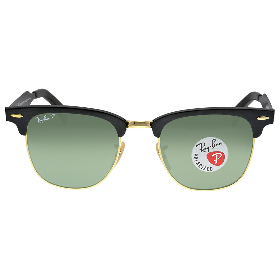 bcfd15f0be Open Box - Ray Ban Clubmaster Polarized Green Classic Sunglasses RB3507 136 N5  51- ...