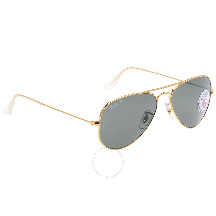 c7b4bfa350 ... Open Box - Ray Ban Original Aviator Green Polarized Sunglasses RB3025  001 58 55-