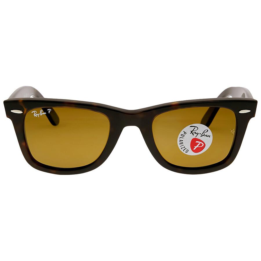 775634b2366 Open Box - Ray Ban Original Wayfarer Classics Polarized Brown Classic B-15 Sunglasses  RB2140 ...
