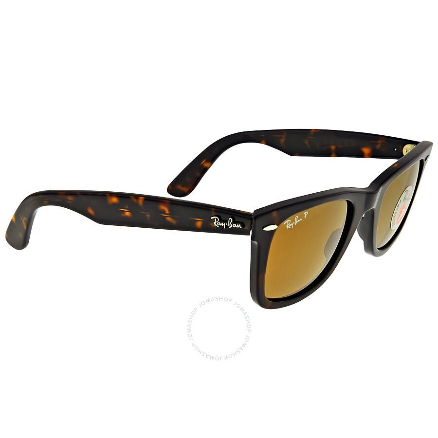 d08075a2b69 ... Open Box - Ray Ban Original Wayfarer Classics Polarized Brown Classic  B-15 Sunglasses RB2140 ...