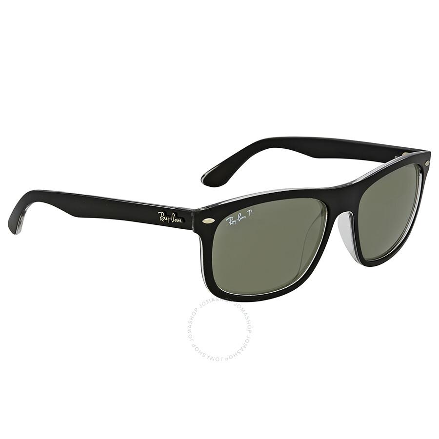 9830439206 ... Open Box - Ray Ban Polarized Green Classic Square Sunglasses ...