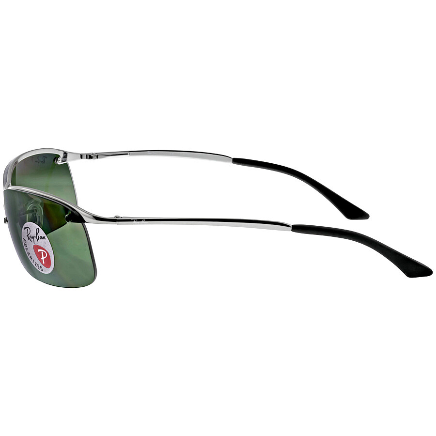 69538f066c1 ... Open Box - Ray-Ban Rectangle Semi-Rimless Polarized Sunglasses  RB3183-004-