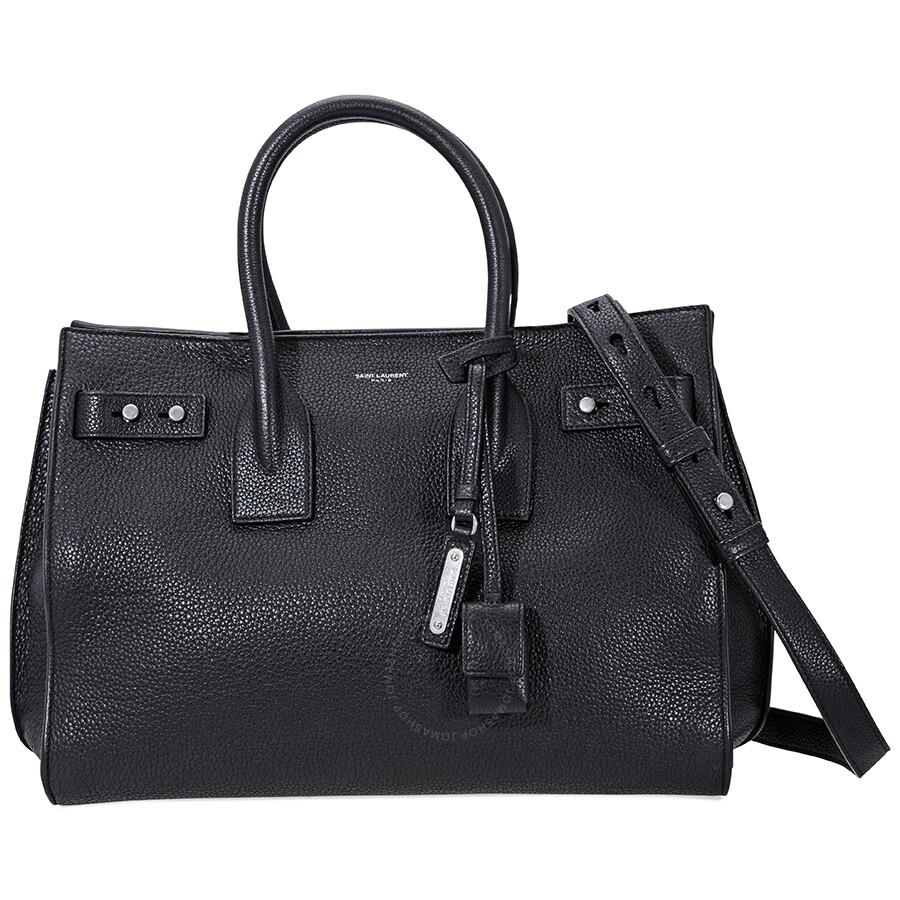 Open Box - Saint Laurent Sac De Jour Small in Grained Leather- Black