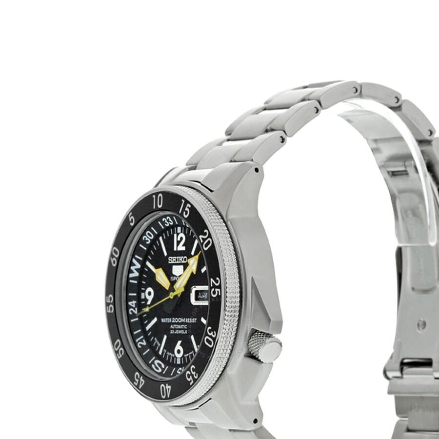 Open Box - Seiko 5 Compass Automatic Black Dial Men's Watch SKZ211J1