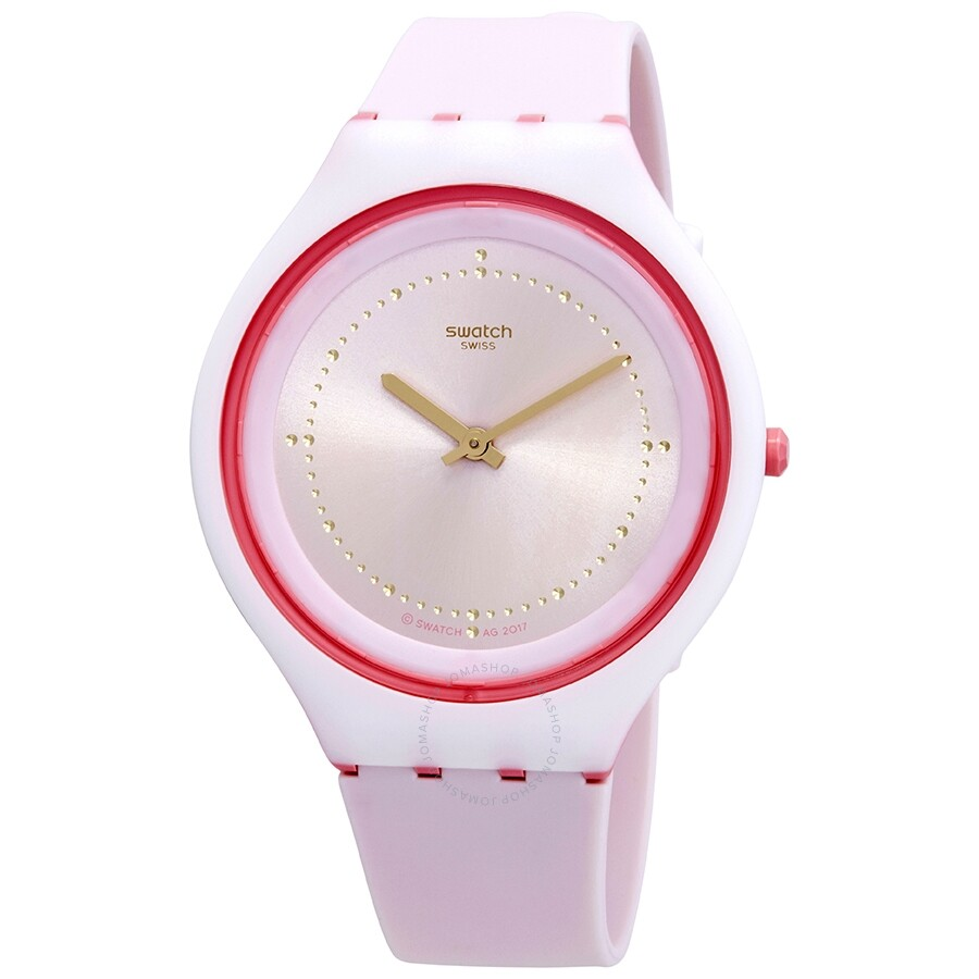 Open Box Swatch Skinblush Pink Dial Ladies Watch Svup101
