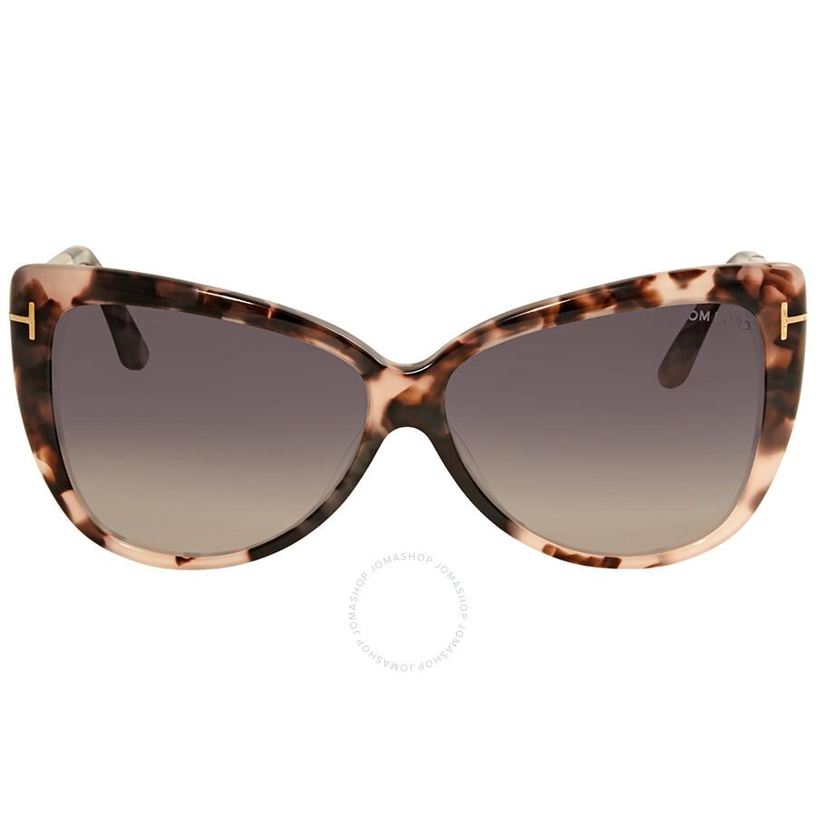 bc60bc72ec Open Box - Tom Ford Reveka Smoke Gradient Cat Eye Sunglasses FT0512 55B ...
