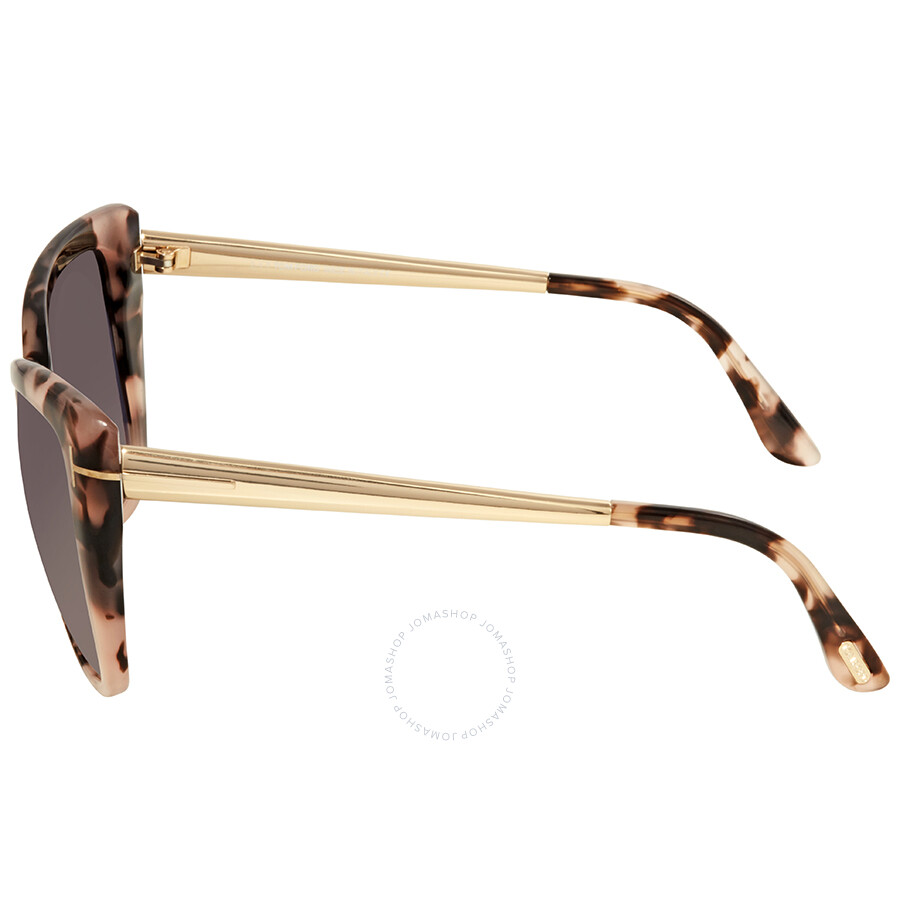 ce2a80790e ... Open Box - Tom Ford Reveka Smoke Gradient Cat Eye Sunglasses FT0512 55B
