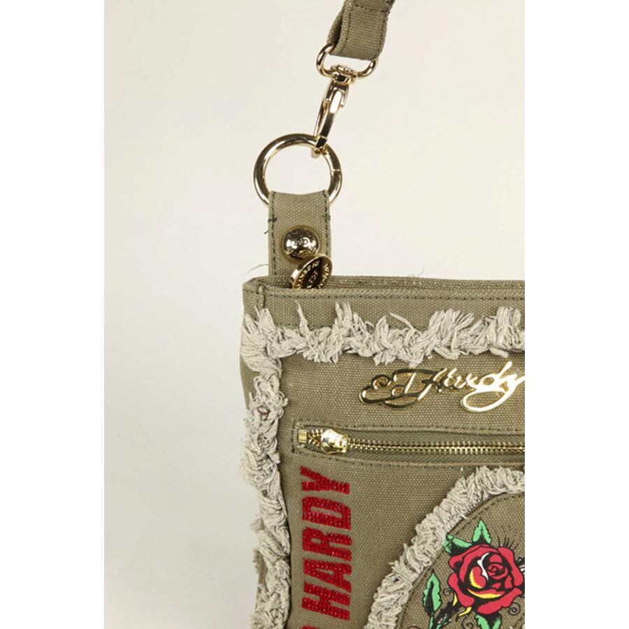 8e6687a4ee Open Box - Ed Hardy Khaki Cavalier Cross Body Bag EHFPFEI1805-BG ...
