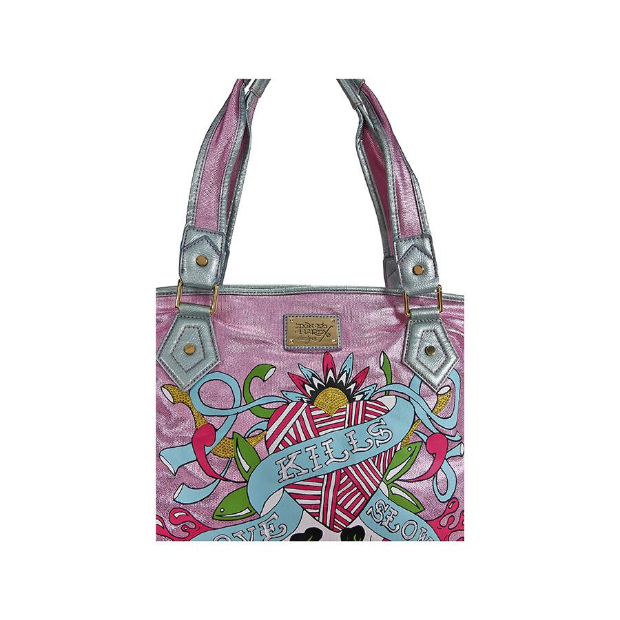 ff8714021f Open Box - Ed Hardy Pink Angeles Tote Bag EHCOANG0072-PK - New ...
