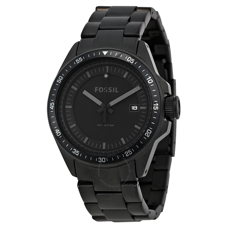 2b81056a7a3 Open Box - Fossil Decker Black Dial Black Ion-plated Men s Watch AM4373 ...