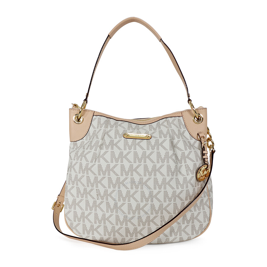 e30ccdf26f00 Open Box - Michael Kors Bedford Large Convertible Shoulder Bag in Vanilla -  Cream