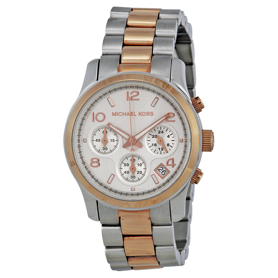706e3afa9af3 Open Box - Michael Kors Chronograph Bracelet Silver-Tone Dial Ladies Watch  MK5315