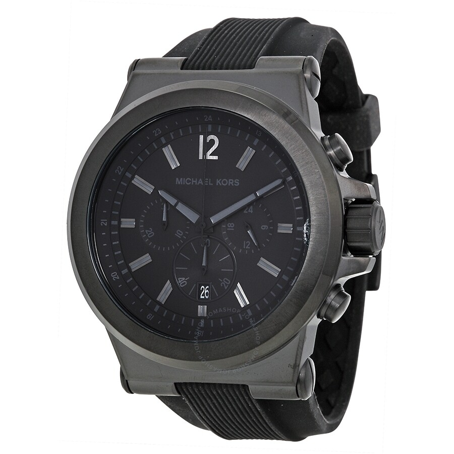799337cc5b11 Open Box - Michael Kors Dylan Black Silicone Strap Men s Watch MK8152 ...