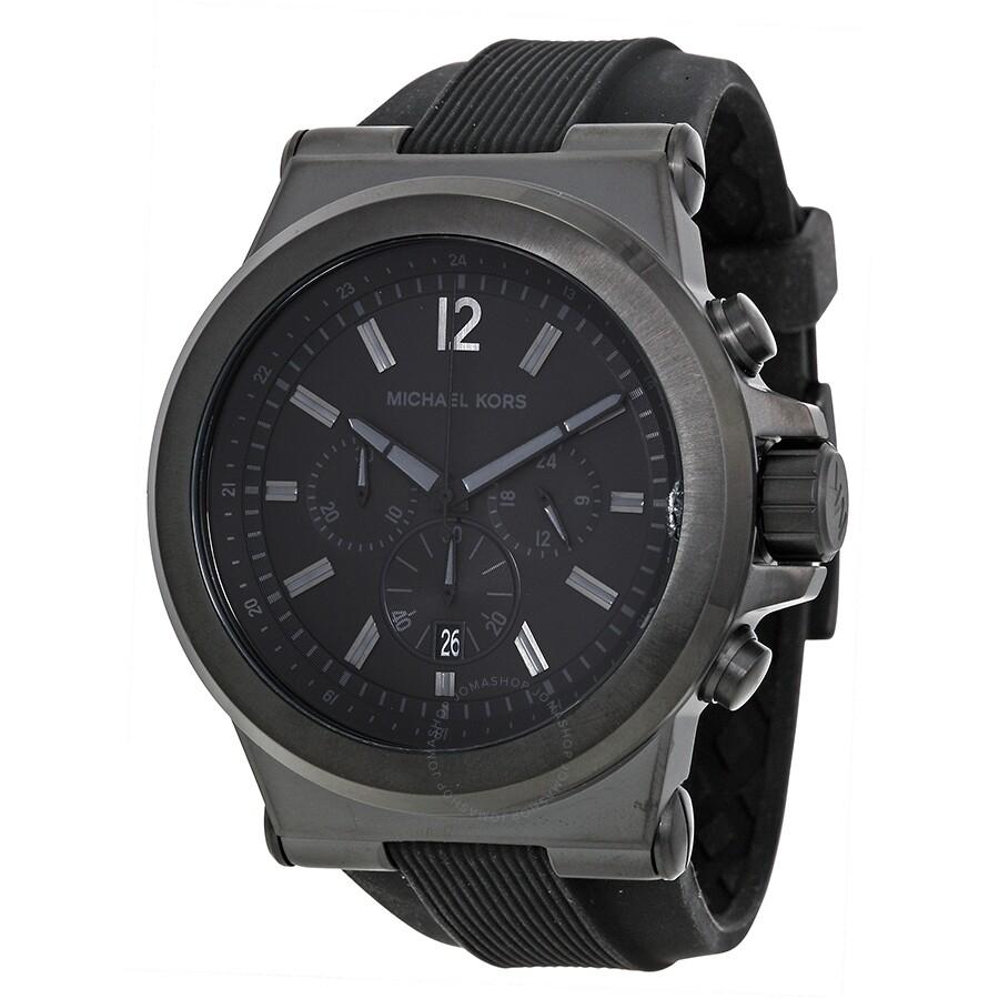 f27874904faa Open Box - Michael Kors Dylan Black Silicone Strap Men s Watch MK8152 ...