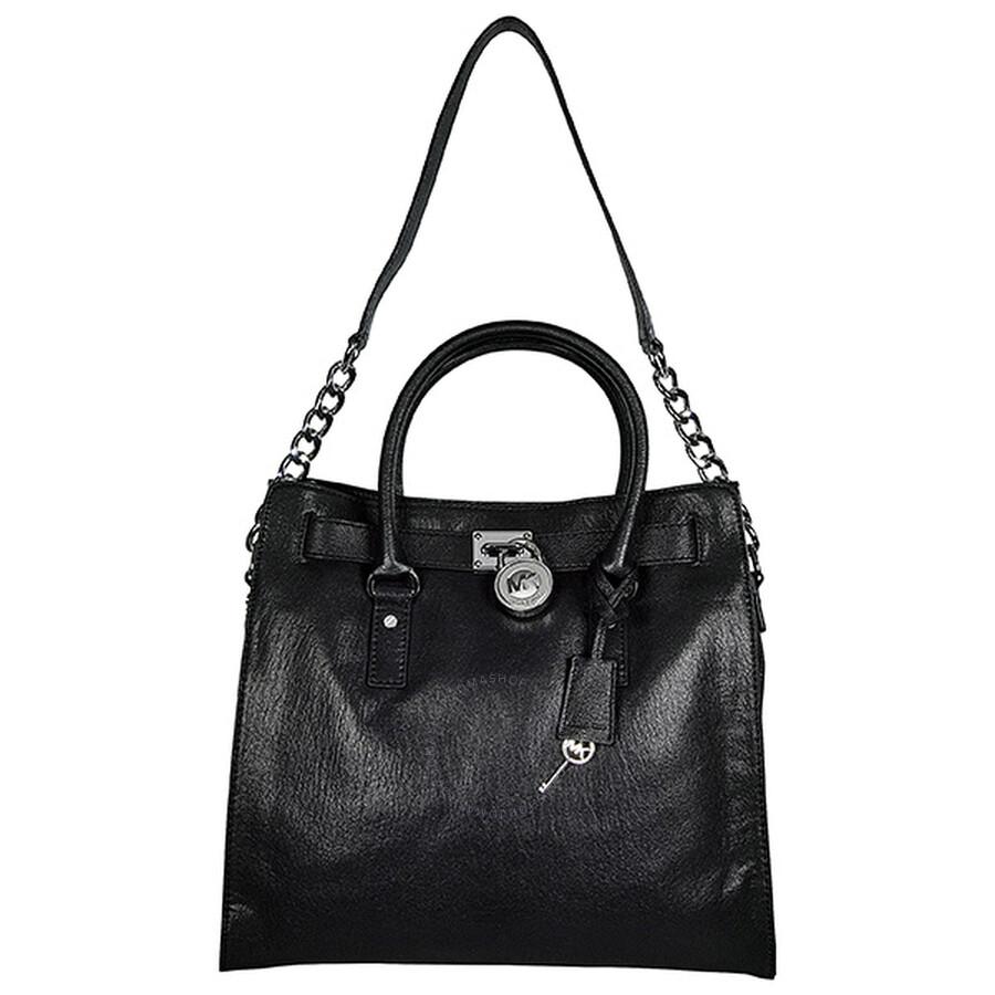 7a4fa1a18a00a9 Michael Kors Open Box - Hamilton Large Tote Bag in Black Item No. 30F91HMT3L