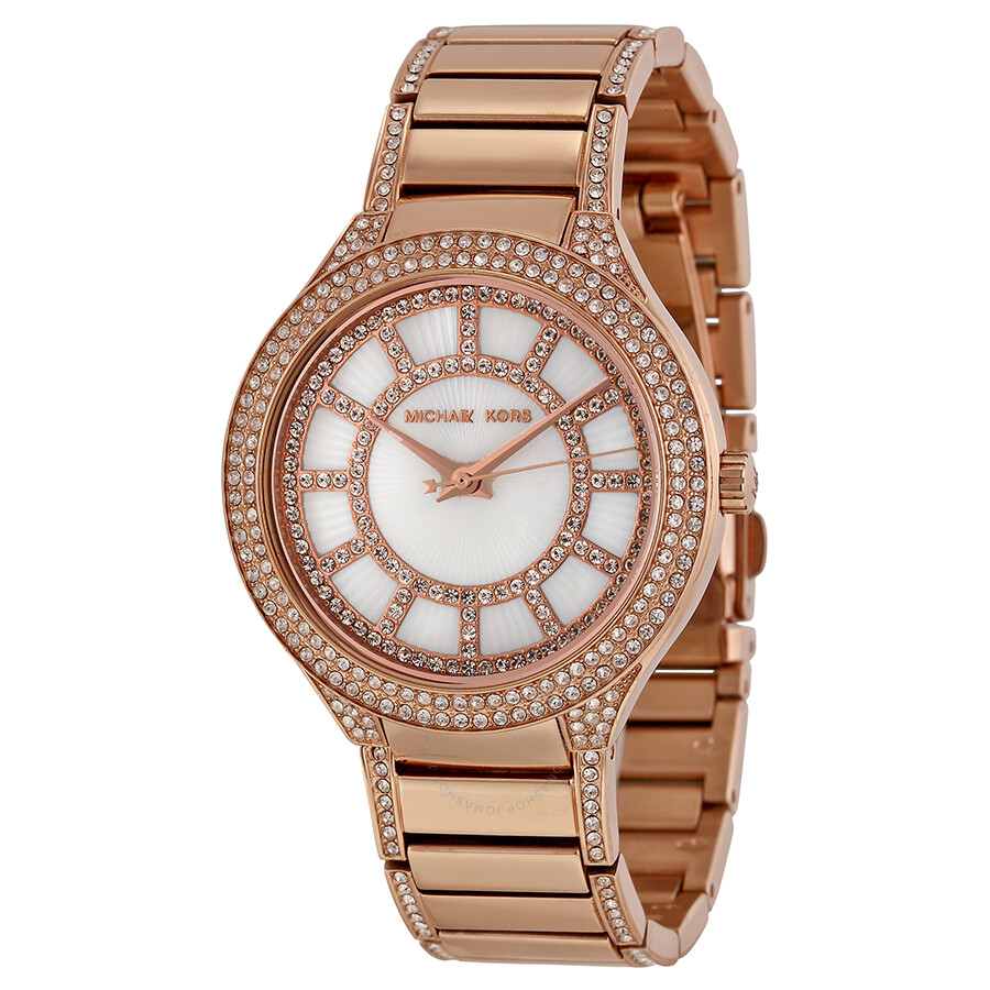 60ad541d8681 Open Box - Michael Kors Kerry Mother of Pearl Dial Rose Gold-tone Ladies  Watch ...