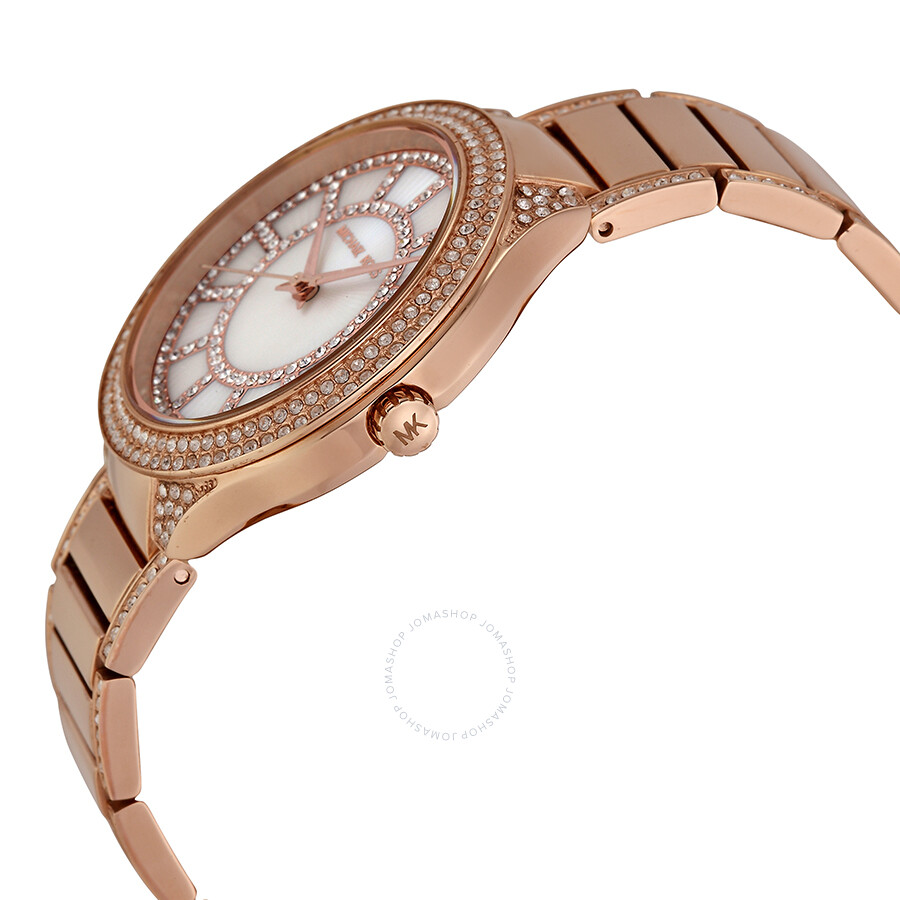 f1f393463ffa ... Open Box - Michael Kors Kerry Mother of Pearl Dial Rose Gold-tone  Ladies Watch ...