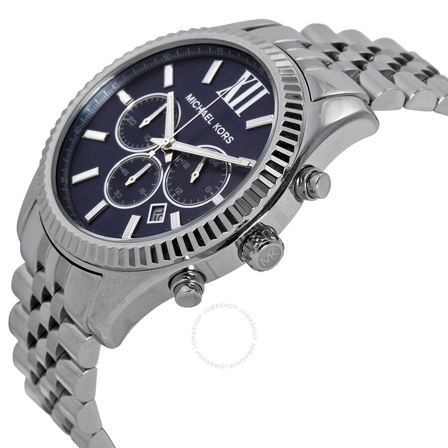 1c098298cc4e Open Box - Michael Kors Lexington Chronograph Navy Dial Men s Watch MK8280