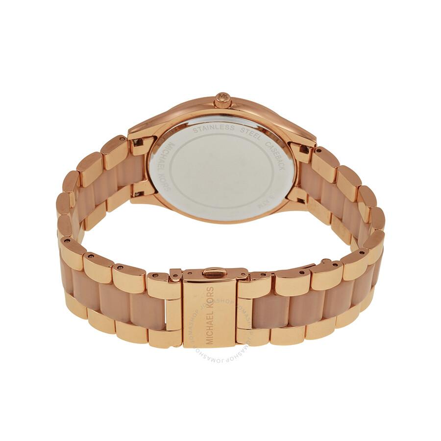 8d1cd7af322e ... Open Box - Michael Kors Mini Darci Rose Gold Tone Dial Steel Ladies  Watch MK3366