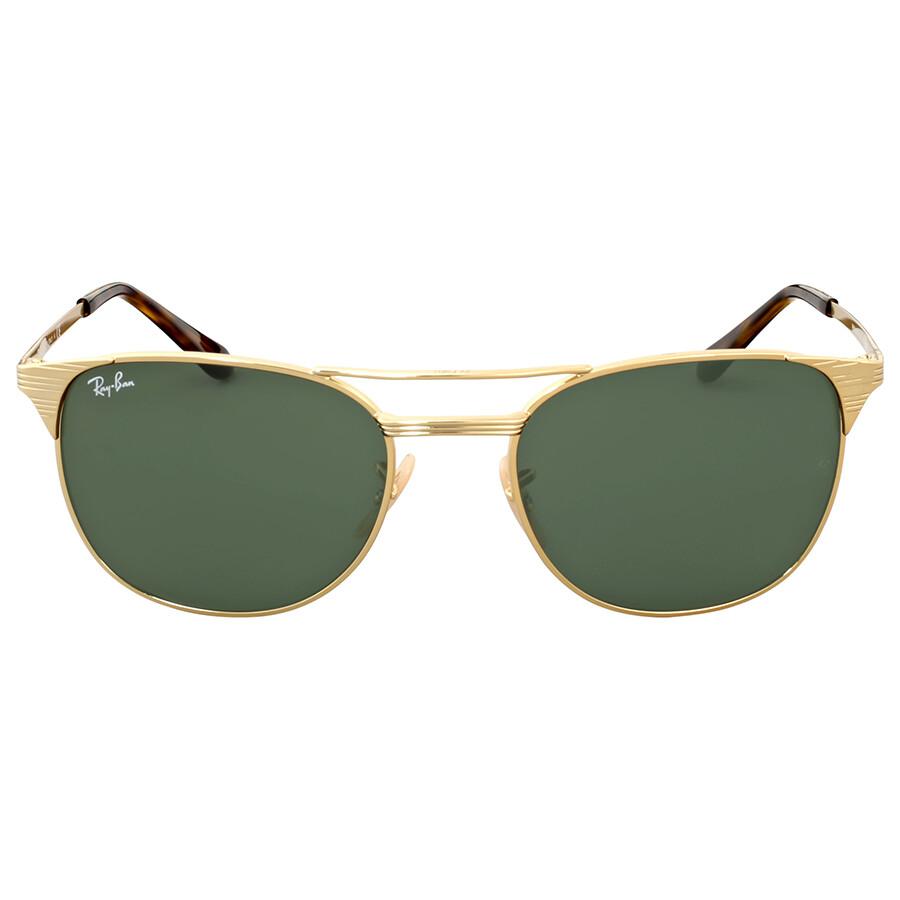 11b0db80c4 Ray Ban Open Box - Ray Ban Signet Green Classic G-15 Metal Siunglasses Item  No. RB3429M00155
