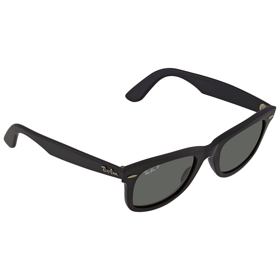 d2df6a337d Ray Ban Open Box - Ray-Ban Classic Wayfarer Black Frame Polarized Green  Lens 2140 Item No. RB2140-901-58-54