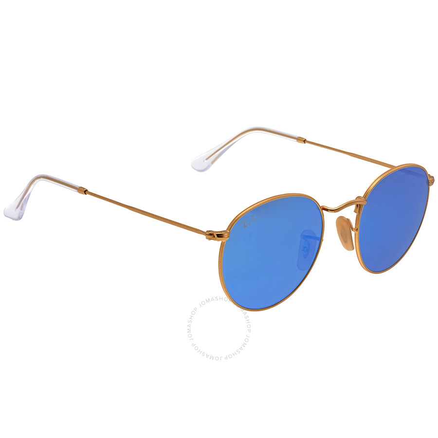 df7878aa8c ... Open Box - Ray-Ban Round Polarized Blue Flash Sunglasses RB3447-112-4L  ...