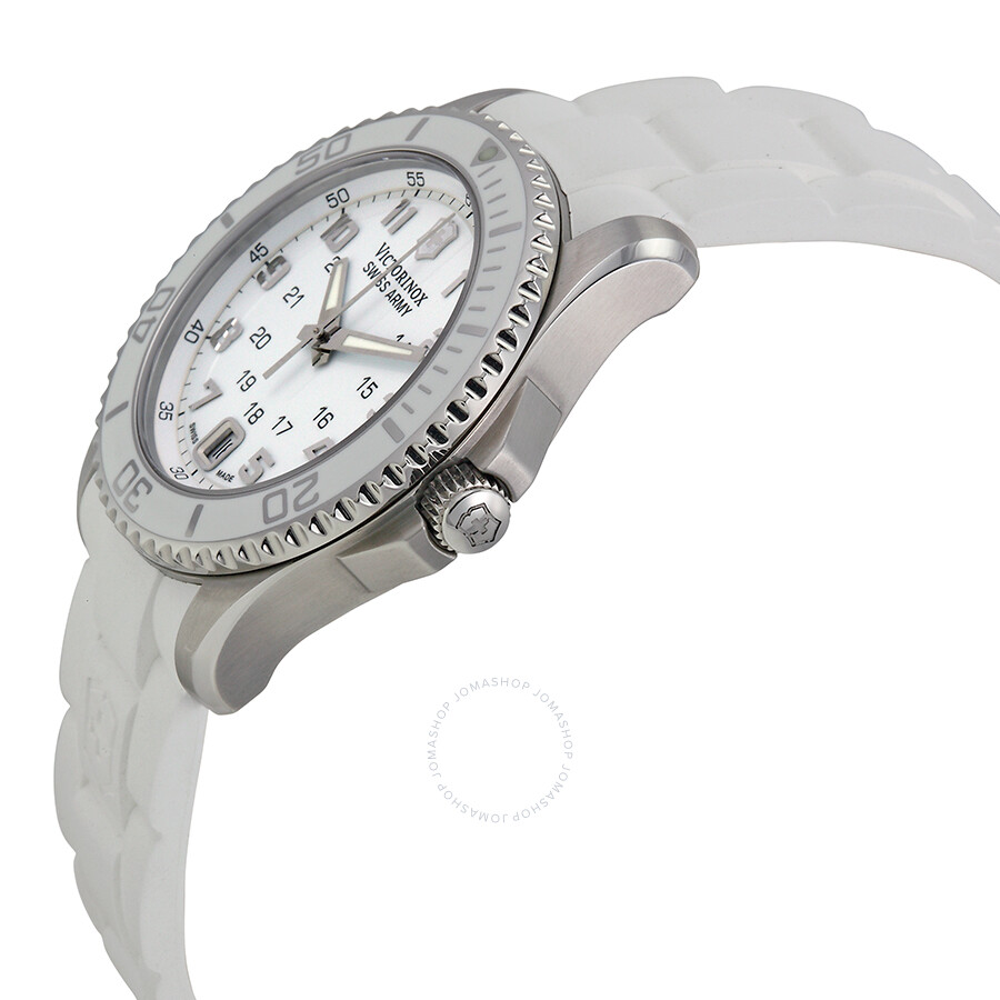 Open box victorinox swiss army maverick mother of pearl dial ladies watch 241492 watches for Mother of pearl dial watch