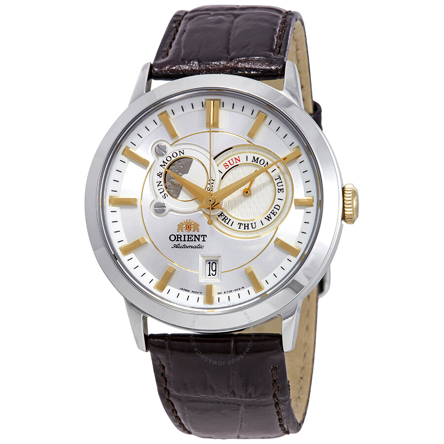Orient Classic Sun And Moon Automatic Silver Dial Men's ...