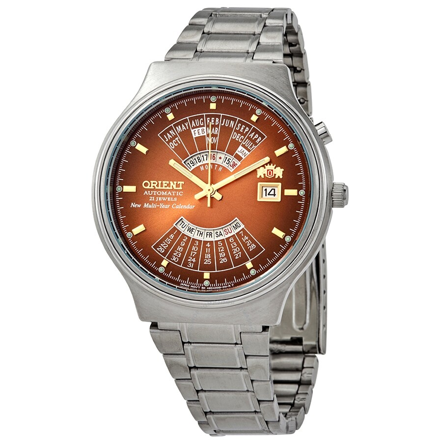 cae0428aa Orient Multi Year Calendar Perpetual World Time Automatic Men's Watch  FEU00002PW ...