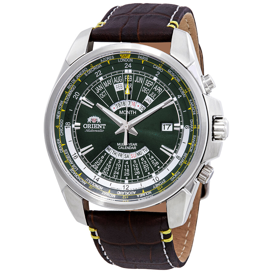 Orient Multi Year Perpetual World Time Automatic Green ...