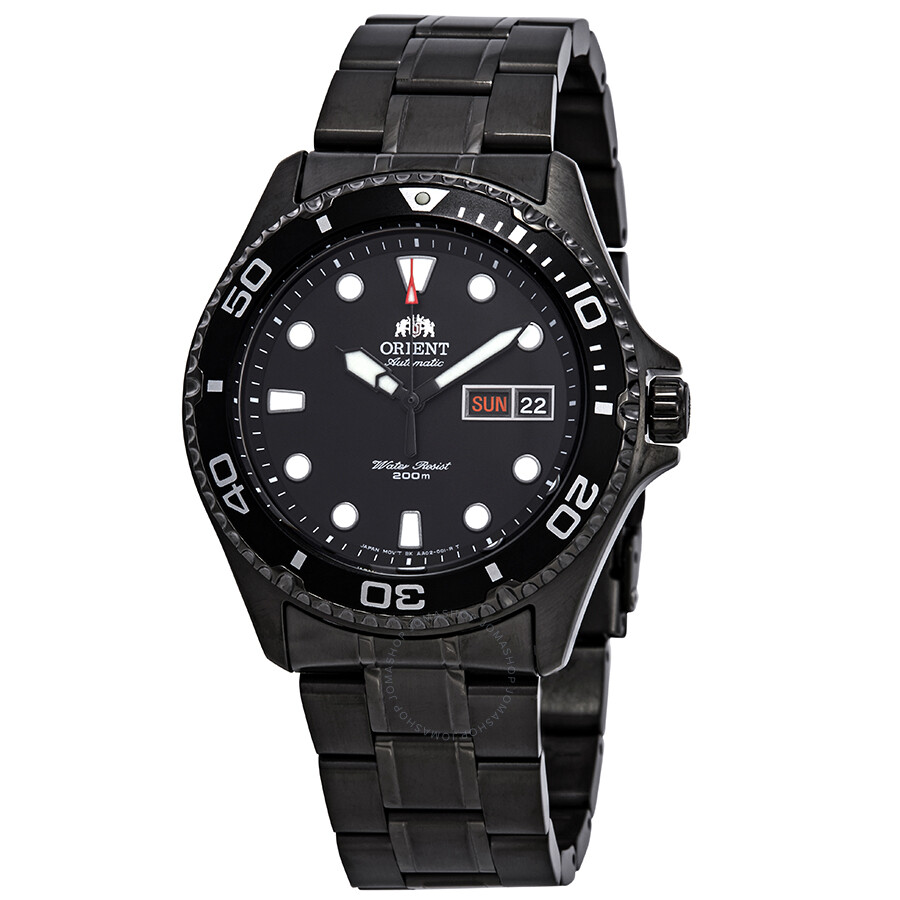 Ray Raven Ii Automatic Black Dial Men's Watch by Orient