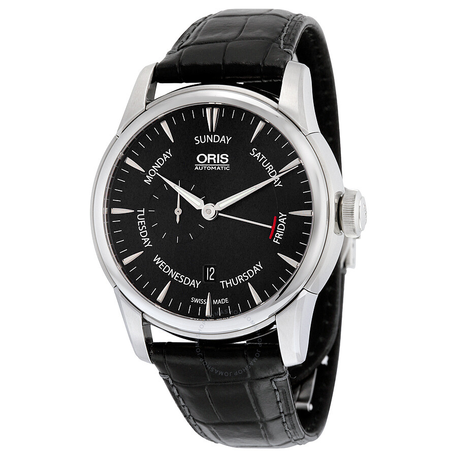 Oris aquis automatic black dial stainless steel men 39 s watch 745 7666 4054ls aquis oris for Oris watches