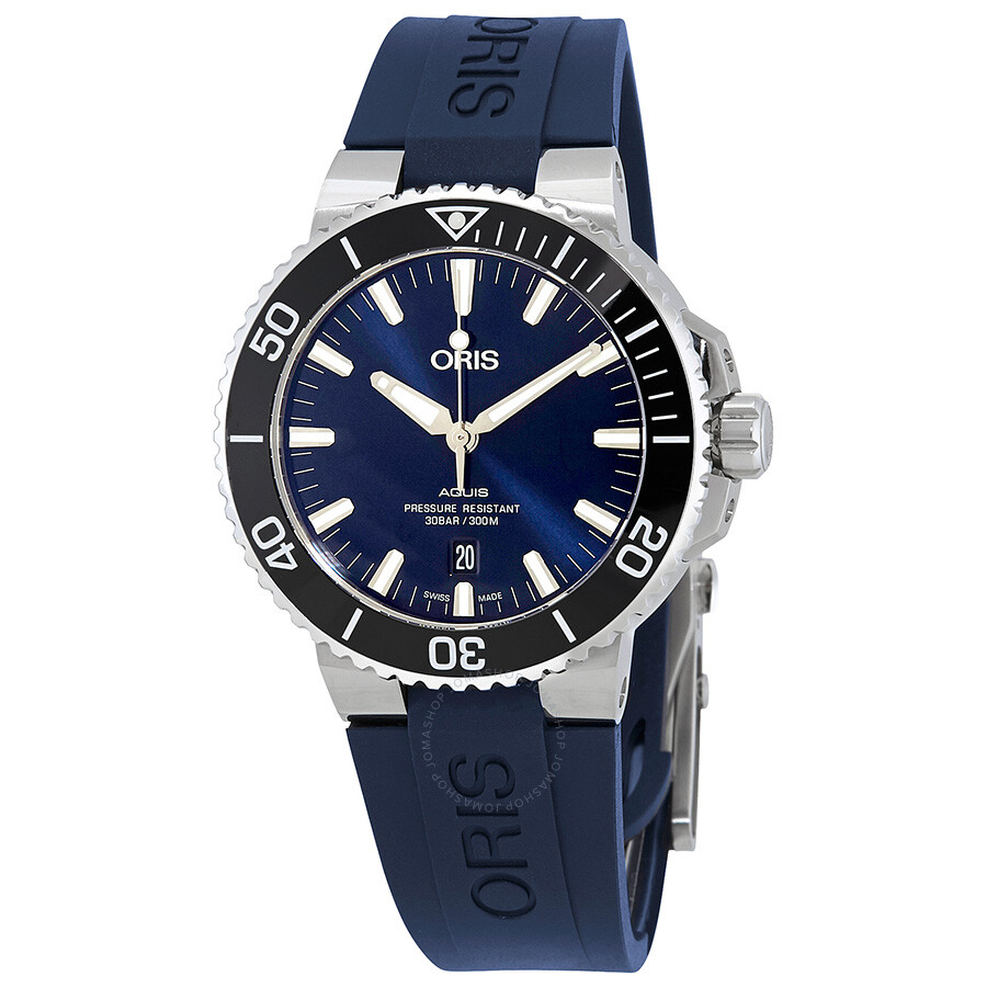 Oris aquis automatic blue dial men 39 s watch 733 7730 4135blrs aquis oris watches jomashop for Oris watches