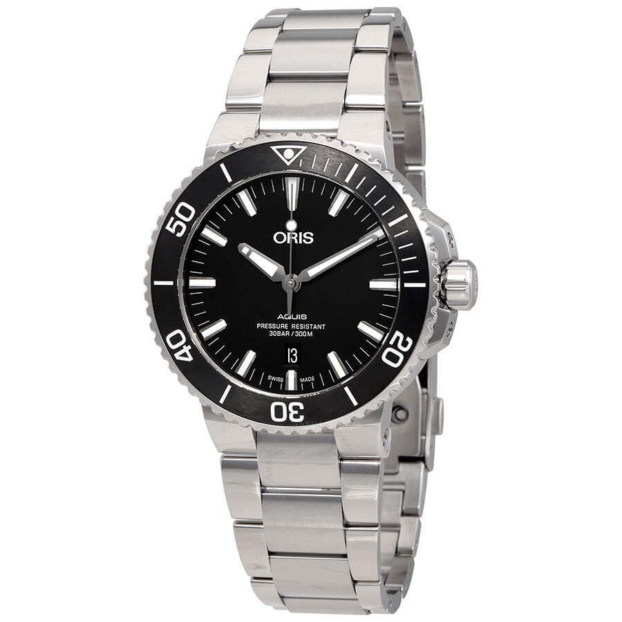 Oris aquis black dial automatic men 39 s watch 01 733 7730 4154 07 8 24 05peb aquis oris for Oris watches