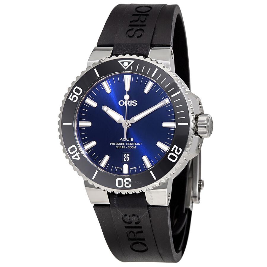 68adaefa1 Oris Aquis Automatic Blue Dial Men's Watch 01-733-7730-4135-07-4-24 ...