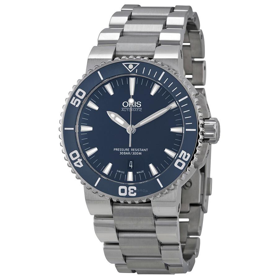 8eb2dd2c807 Oris Aquis Blue Dial Men s Watch 733-7653-4155MB Item No. 01 733 7653  4155-07 8 26 01PEB