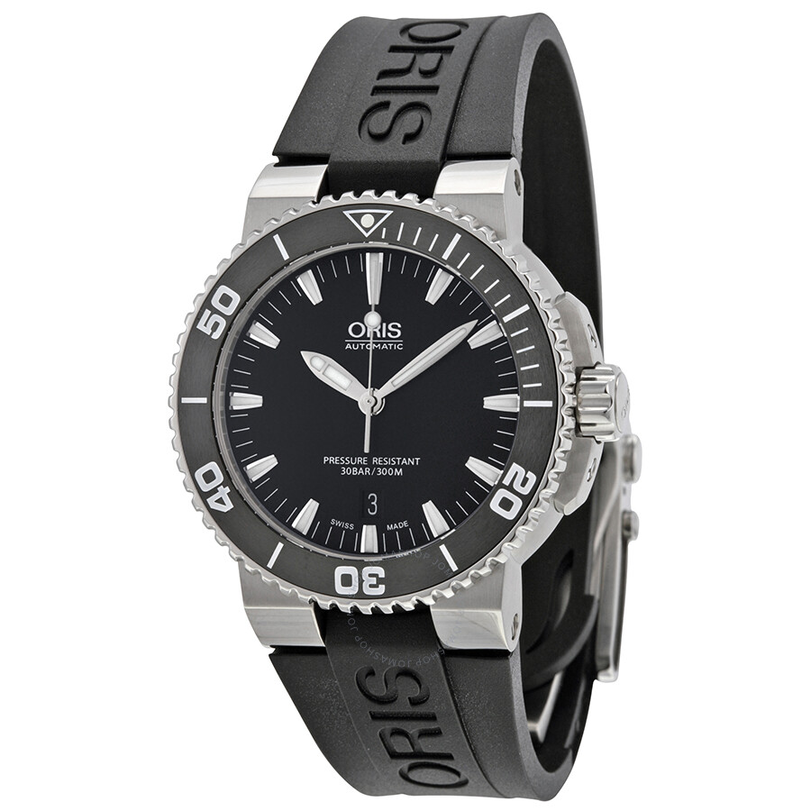 Oris aquis date 43 mm steel rubber men 39 s watch 733 7653 4154rs aquis oris watches jomashop for Oris watches