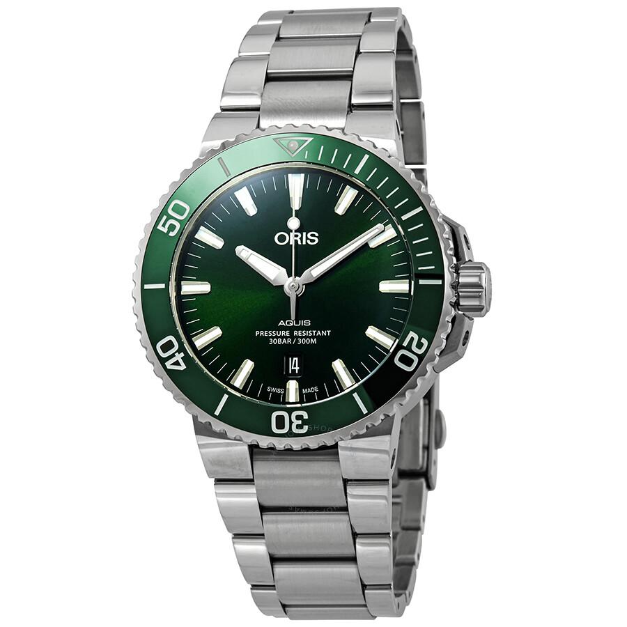 3ab67c71f0e Oris Aquis Date Automatic Green Dial Men s Watch 01 733 7730 4157-07 8 24  ...