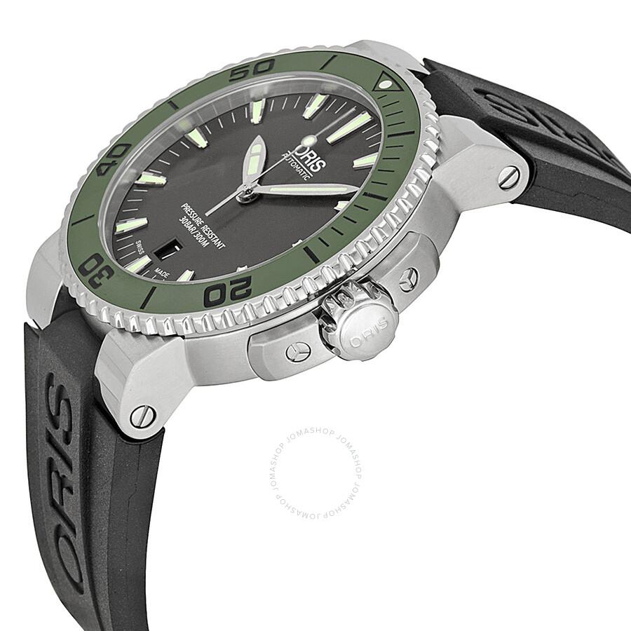 26e6a3f1f71 ... Oris Aquis Date Grey Dial Black Rubber Men s Watch 733-7653-4157RS ...