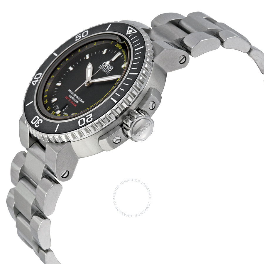 f451dc5e6 Oris Aquis Depth Gauge Black Dial Stainless Steel Men's Watch 733 -7675-4154SET