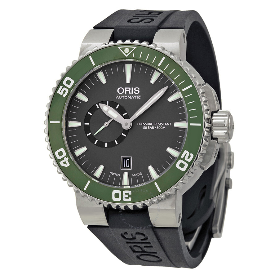 Oris aquis small second date men 39 s watch 743 7673 4137rs aquis oris watches jomashop for Oris watches