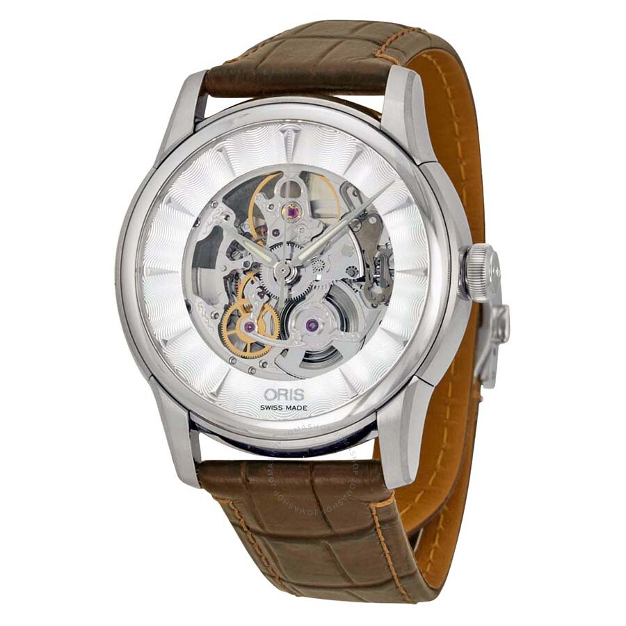 Oris artelier automatic skeleton dial men 39 s watch 73476704051 artelier oris watches jomashop for Oris watches