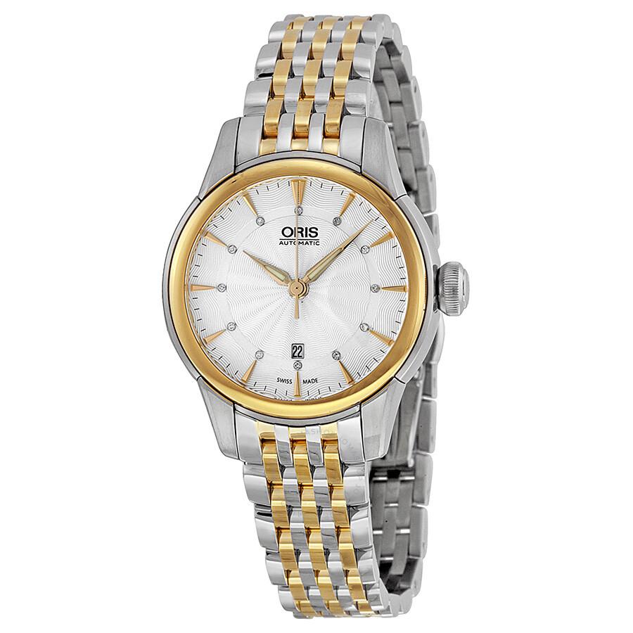 Oris Artelier Automatic Diamond Silver Dial Ladies Watch 01 561 7687  4351-07 8 14 ...