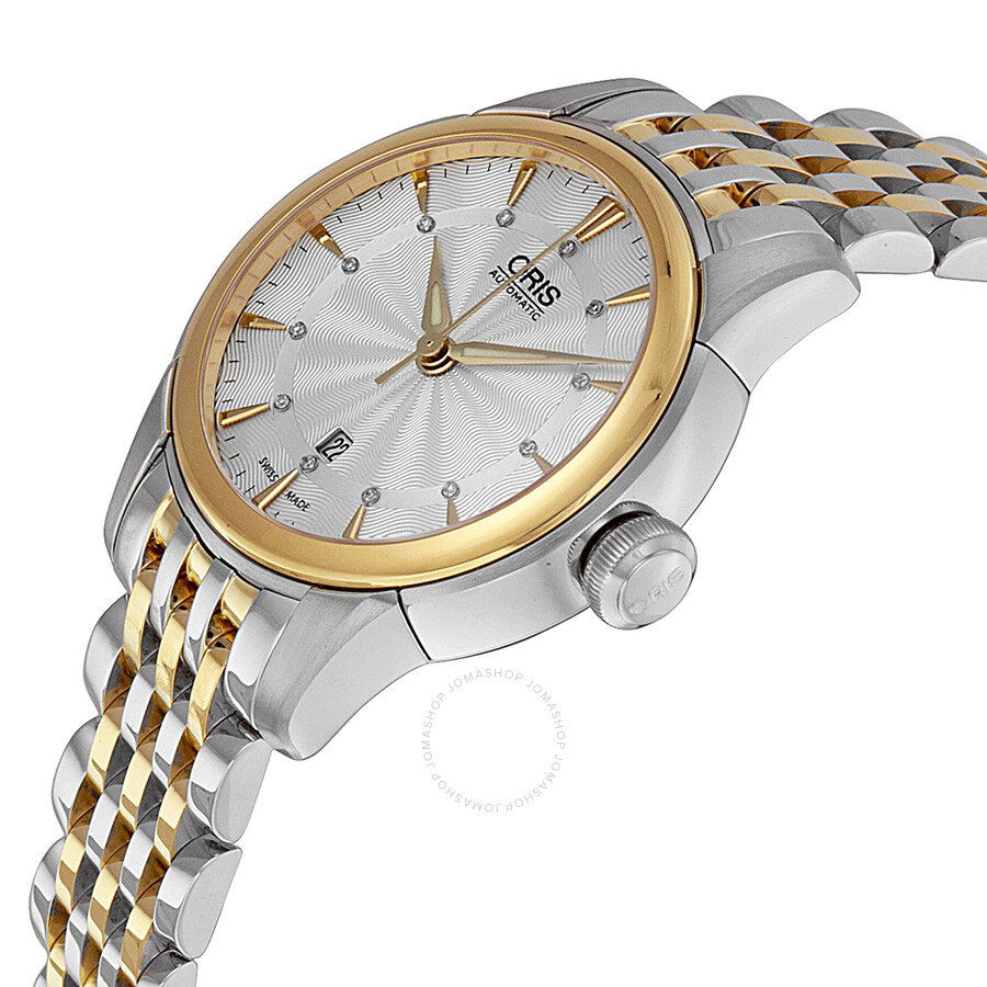 ... Oris Artelier Automatic Diamond Silver Dial Ladies Watch 01 561 7687  4351-07 8 14 ...