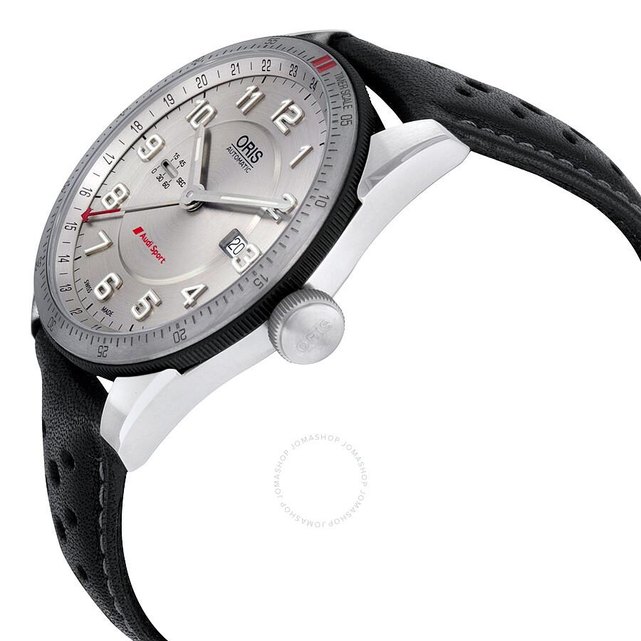 793107618 ... Oris Artix Audi Sport GMT Automatic Silver Dial Men's Watch 747-7701- 4461LS ...