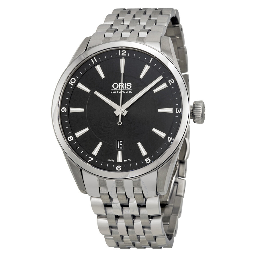 Oris artix date black dial automatic men 39 s watch 73376424034mb artix oris watches jomashop for Oris watches