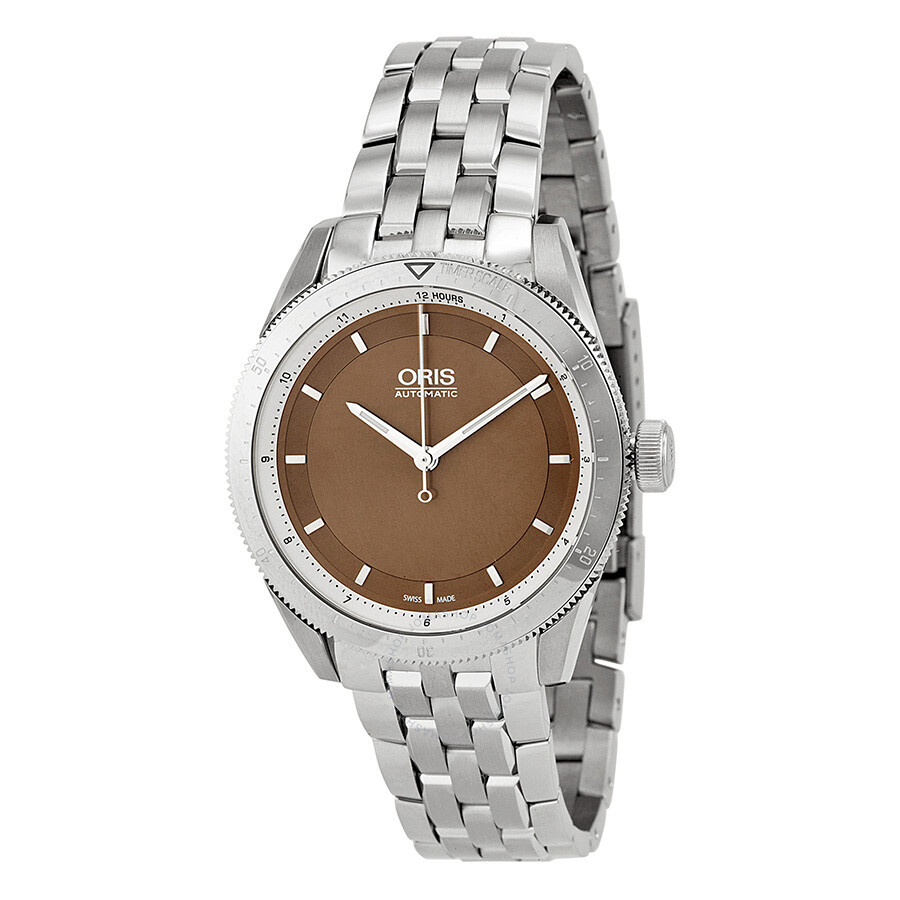 oris artix gt brown stainless steel 01