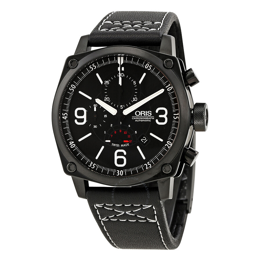 Oris aviation bc4 chornograph men 39 s watch 674 7633 4794ls bc4 oris watches jomashop for Oris watches