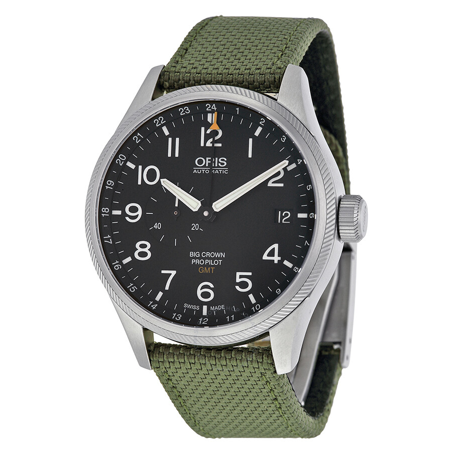 Oris big crown pro pilot automatic men 39 s watch 748 7710 4164grfs big crown oris watches for Oris watches